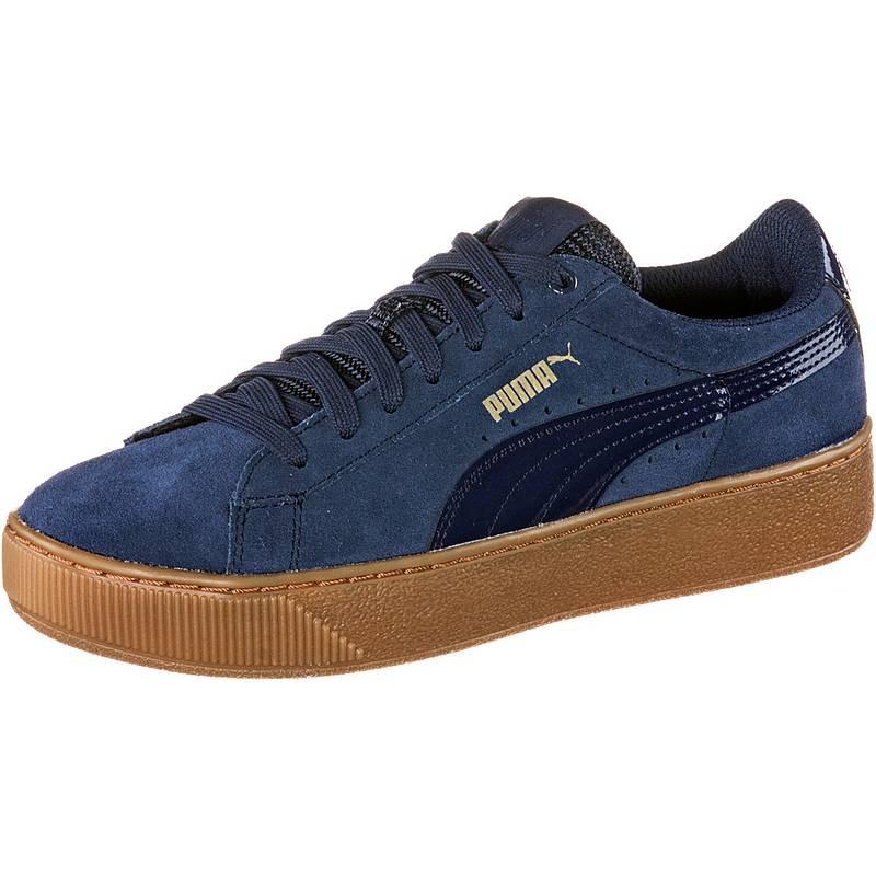 puma damen sneaker platform blau