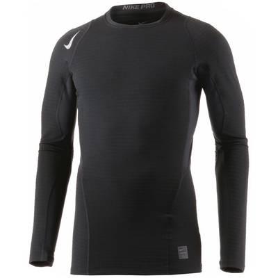 Nike Pro Warm Kompressionsshirt Herren schwarz
