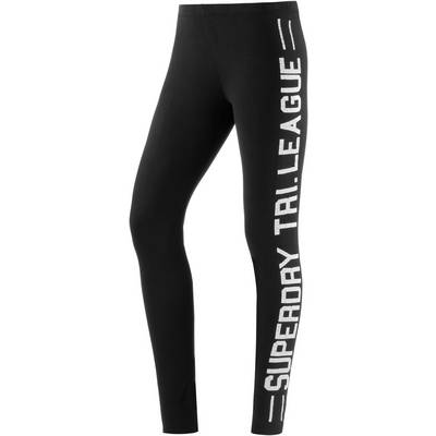 Superdry Leggings Damen schwarz
