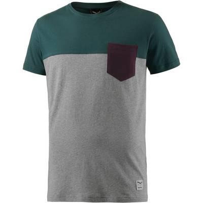 iriedaily Block Pocket T-Shirt Herren graumelange/grün