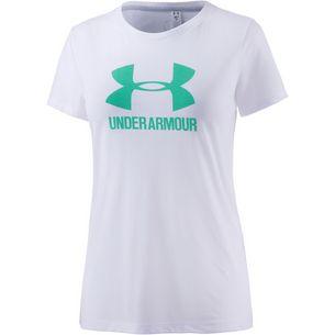 Under Armour Threadborne Train T-Shirt Damen weiß/türkis