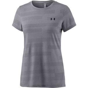 Under Armour Threadborne Train Jacquard T-Shirt Damen grau