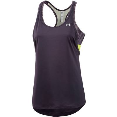 Under Armour Heatgear Tanktop Damen lila/gelb