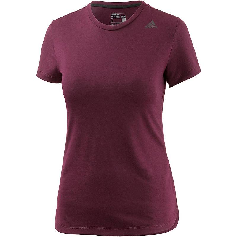 Adidas Prime T-Shirt Damen weinrot melange im Online Shop von ... cde8cd0270