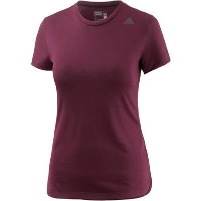 adidas Prime T-Shirt Damen weinrot/melange