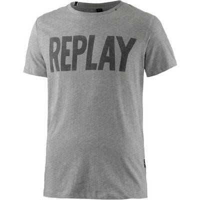 REPLAY T-Shirt Herren grau