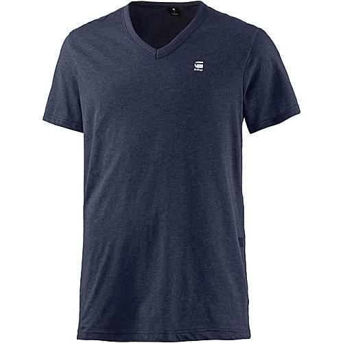 G-Star V-Shirt Herren blau melange