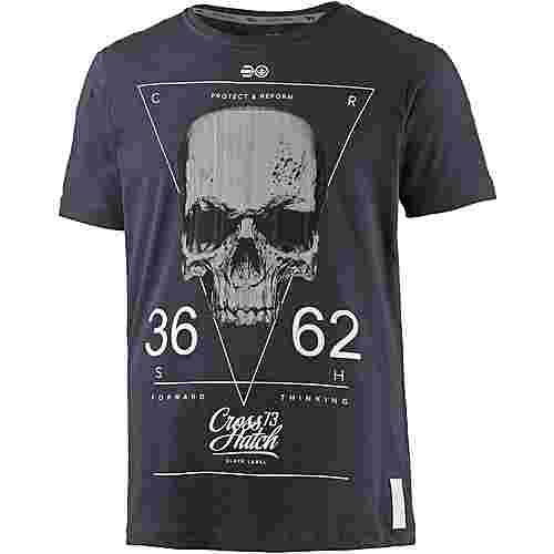 Crosshatch Printshirt Herren blau