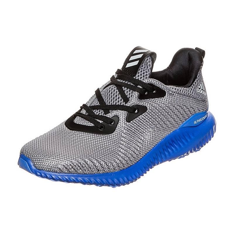 pick up bc2a7 b445d adidasAlphabounce LaufschuheKinder grau   blau