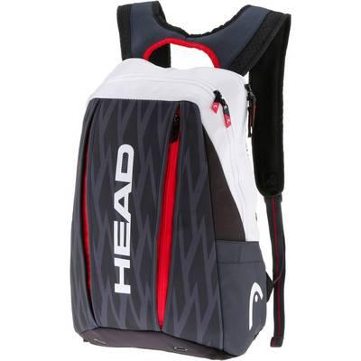 HEAD Djokovic Backpack Tennisrucksack schwarz/weiß
