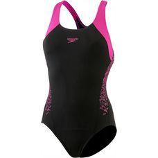 SPEEDO Boom Splice Muscleback Schwimmanzug Damen schwarz/pink