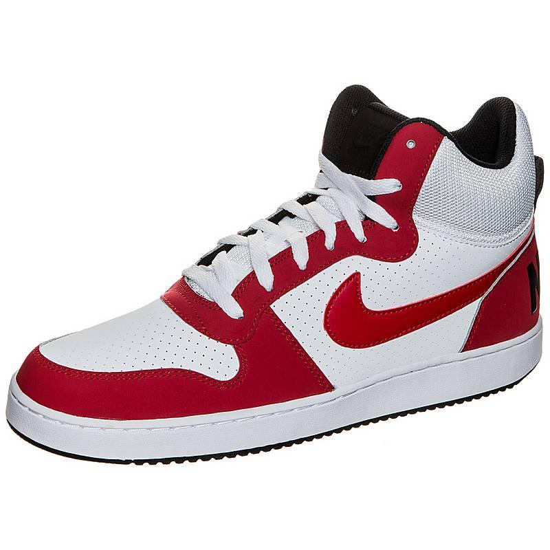 NikeCourt Borough Mid  SneakerHerren  weiß / rot / schwarz