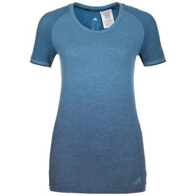 adidas Primeknit Wool Dip Dye Laufshirt Damen blau