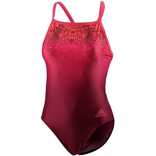 adidas Schwimmanzug Damen rot/weinrot