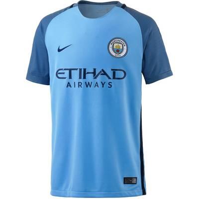 Nike Man City 16/17 Heim Fußballtrikot Kinder blau