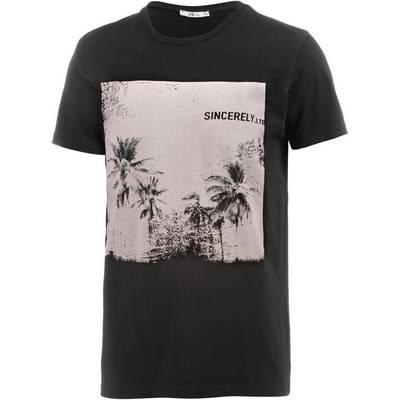 LTB Kewoge Printshirt Herren schwarz/weiß