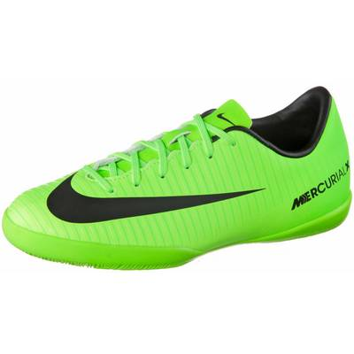 Nike JR MERCURIALX VAPOR XI IC Fußballschuhe Kinder neongrün/schwarz