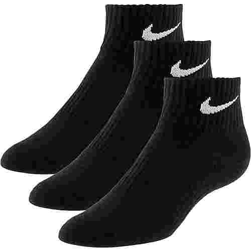 Nike LIGHTWEIGHT QUARTER Socken Pack schwarz