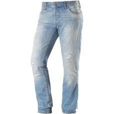 Jack & Jones Tim Straight Fit Jeans Herren destroyed denim