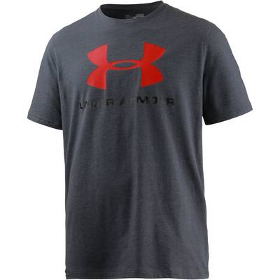 Under Armour HeatGear Sportstyle Logo Funktionsshirt Herren grau/rot