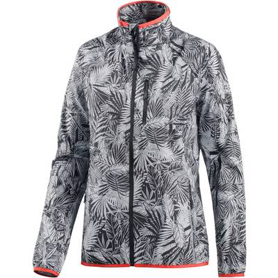 Jack Wolfskin Flyweight Jungle Windbreaker Damen schwarz/weiß/allover