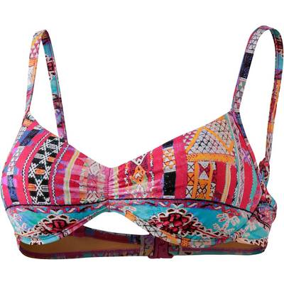 Seafolly Beach Bazaar Bikini Oberteil Damen rosa/türkis/schwarz