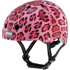 Nutcase Pink Cheetah Fahrradhelm Damen pink