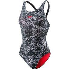 SPEEDO Boom Allover Muscleback Schwimmanzug Damen schwarz/weiß