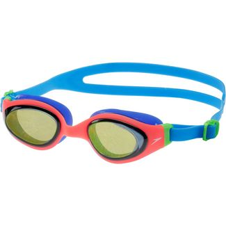 SPEEDO Holowonder Junior Schwimmbrille Kinder orange/blau