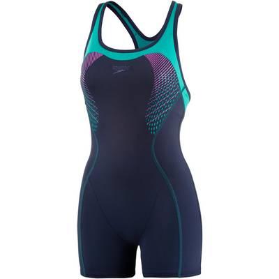SPEEDO Fit Legsuit Kickback Schwimmanzug Damen navy/jade