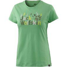 Jack Wolfskin Brand Printshirt Damen hellgrün