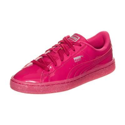 PUMA Basket Patent Iced Glitter Sneaker Kinder pink