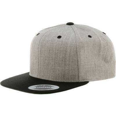 Flexfit Classic Snapback Cap grau/schwarz