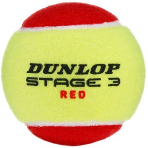 Dunlop STAGE 3 RED Tennisball Kinder rot