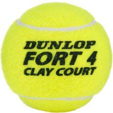 Dunlop FORT CLAY COURT Tennisball gelb