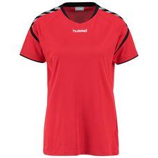 hummel Authentic Charge Poly Funktionsshirt Damen rot / schwarz