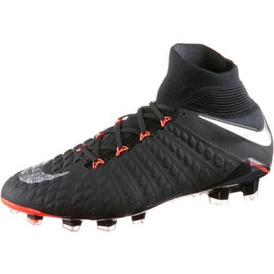 Nike HYPERVENOM PHANTOM DF III FG Fußballschuhe Herren schwarz/silber