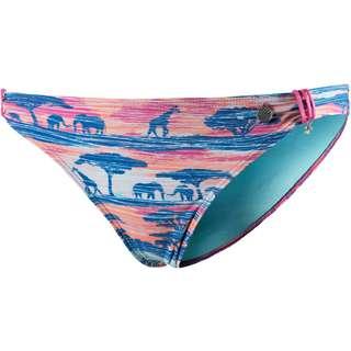 Beachlife Bikini Hose Damen blau-rot