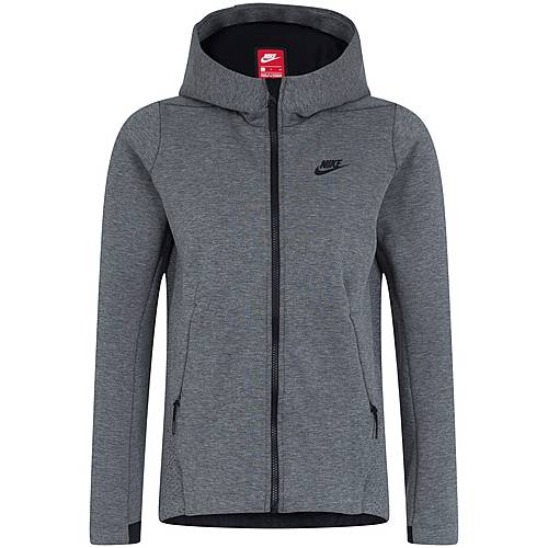Nike Tech Fleece Sweatjacke Damen grau schwarz im Online