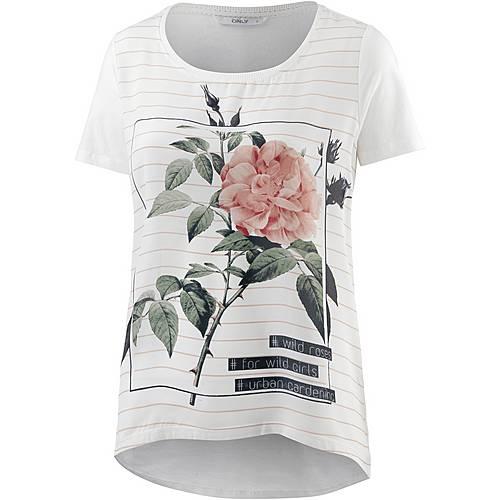 Only T-Shirt Damen offwhite gestreift