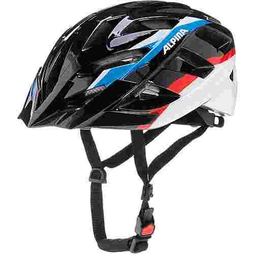 ALPINA Panoma Fahrradhelm schwarz/blau/rot