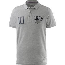 Crosshatch Poloshirt Herren grau melange