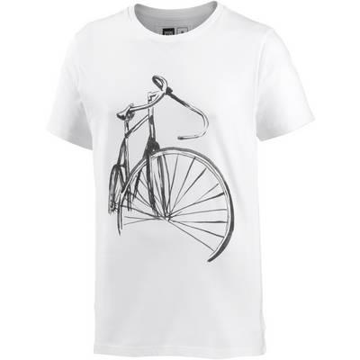 DEDICATED Printshirt Herren white