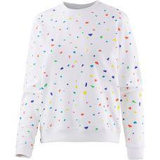 DEDICATED Sweatshirt Damen white