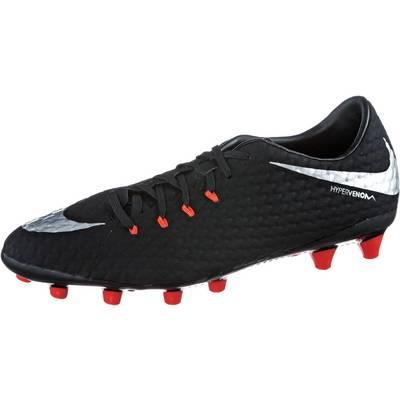 Nike HYPERVENOM PHELON III AGPRO Fußballschuhe Herren schwarz/silber