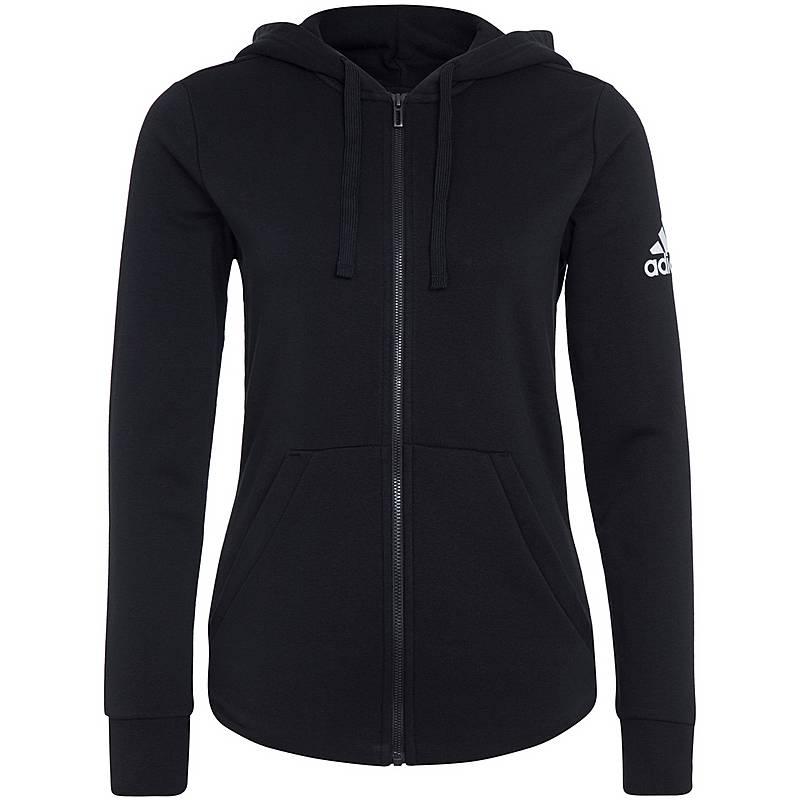 Adidas Essentials Solid Trainingsjacke Damen schwarz   weiß im ... 1f48fe34f7