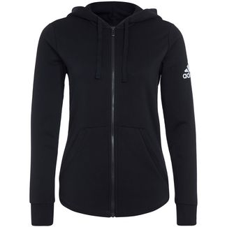 adidas Essentials Solid Trainingsjacke Damen schwarz / weiß