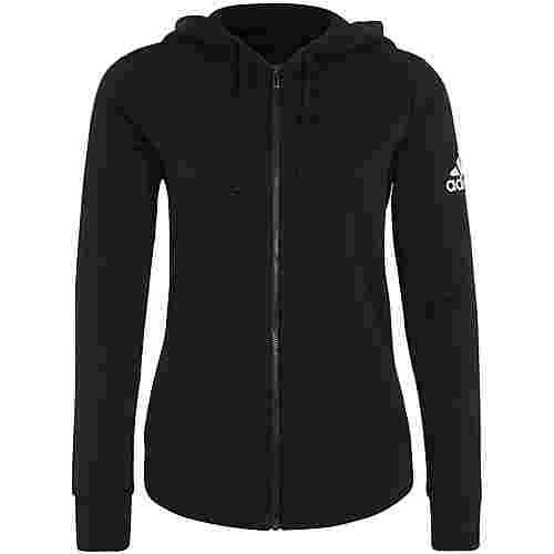 adidas Essentials Solid Trainingsjacke Damen schwarz / weiß