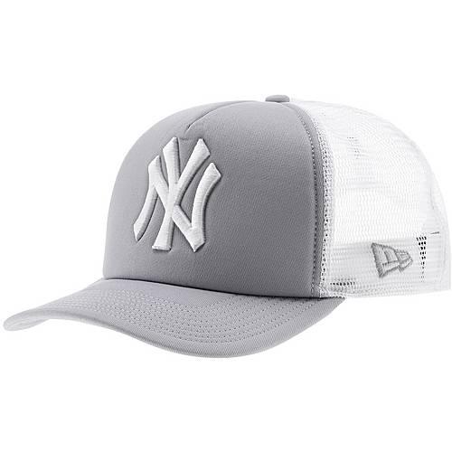 New Era Clean Trucker NY Yankees Cap hellgrau/weiß