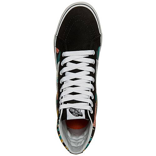 Vans Sk8 Hi Slim Tropical Leaves Sneaker Damen schwarz